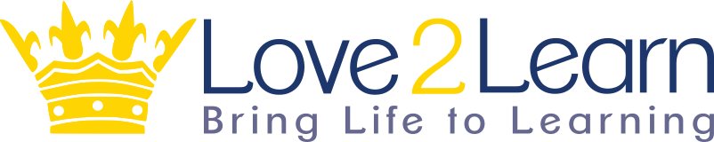 Logo for Love2Learn homeschool curriculum provider.